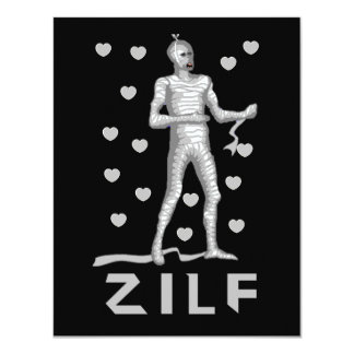 Zilf Zombie 4.25x5.5 Paper Invitation Card