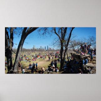 Zilker Park Kite Festival 2 - Austin Texas Poster