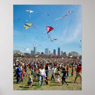 Zilker Park Kite Festival 3 - Austin Texas Poster
