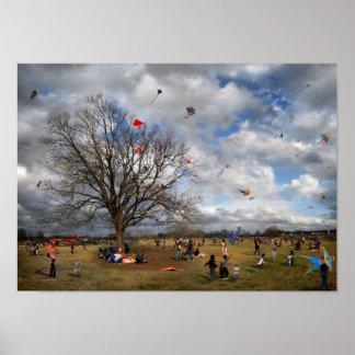 Zilker Park Kite Festival - Austin Texas Poster