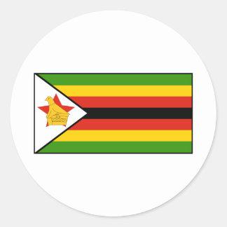 Zimbabwe - bandera zimbabuense pegatina redonda