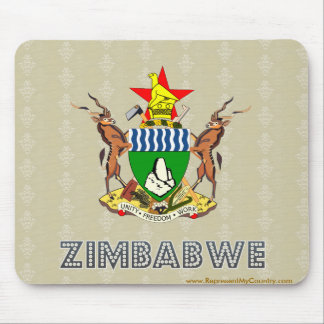 Zimbabwe Coat of Arms Mouse Pad