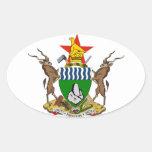Zimbabwe Coat of Arms Oval Sticker