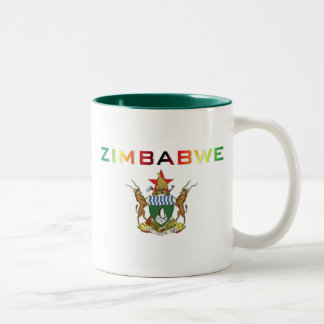 Zimbabwe Coat of Arms Two-Tone Coffee Mug