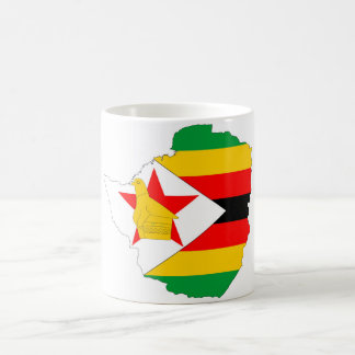 zimbabwe country flag map coffee mug