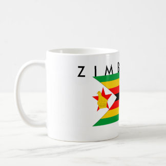 zimbabwe country flag nation symbol text name coffee mug