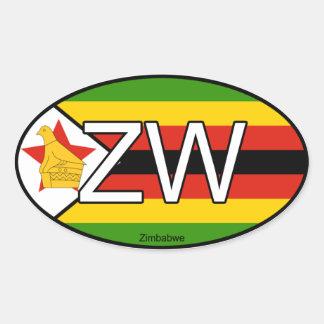 Zimbabwe Euro Sticker