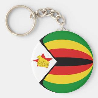 Zimbabwe Fisheye Flag Keychain