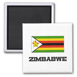 Zimbabwe Flag 2 Inch Square Magnet