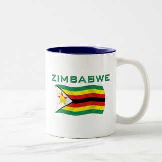 Zimbabwe Flag 2 Two-Tone Coffee Mug