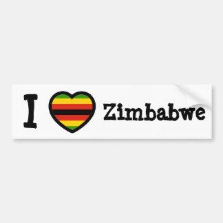 Zimbabwe Flag Bumper Stickers