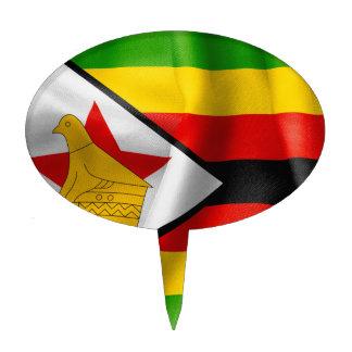 Zimbabwe Flag Cake Picks