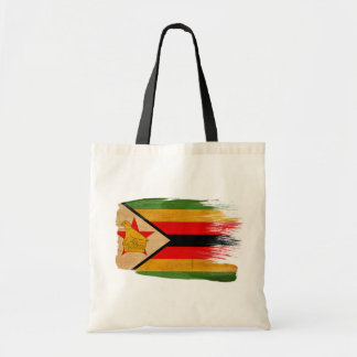 Zimbabwe Flag Canvas Bags