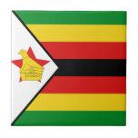 Zimbabwe Flag Ceramic Tile