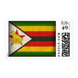 Zimbabwe Flag Distressed Stamps