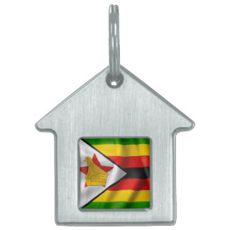 Zimbabwe Flag Dog Tag