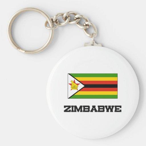 Zimbabwe Flag Keychain