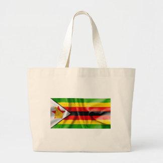 Zimbabwe Flag Large Tote Bag