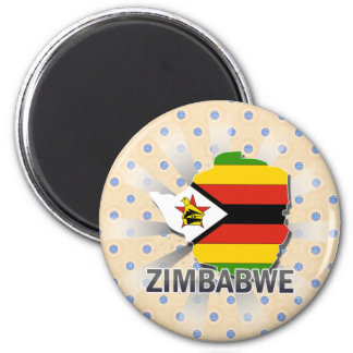 Zimbabwe Flag Map 2.0 Fridge Magnet