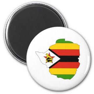 Zimbabwe Flag Map full size Magnets