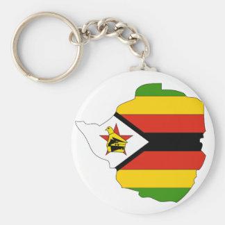 Zimbabwe flag map keychain