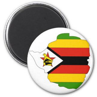 Zimbabwe flag map refrigerator magnets