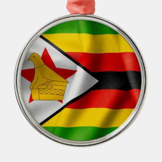 Zimbabwe Flag Metal Ornament