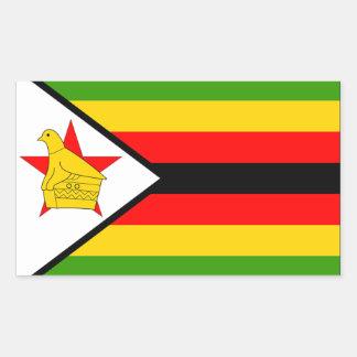 Zimbabwe Flag Rectangular Sticker