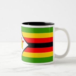Zimbabwe Flag Two-Tone Coffee Mug