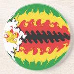 Zimbabwe Gnarly Flag Coaster