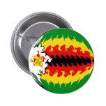 Zimbabwe Gnarly Flag Pinback Button