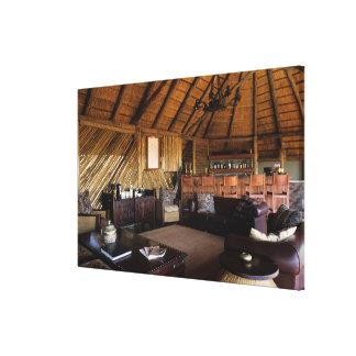 Zimbabwe, Hwange National Park, Linkwasha lodge. Stretched Canvas Print