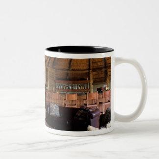 Zimbabwe, Hwange National Park, Linkwasha lodge. Two-Tone Coffee Mug