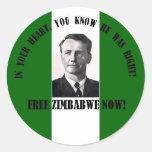 Zimbabwe Ian-Libre Pegatina