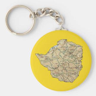 Zimbabwe Map Keychain