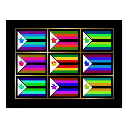 Zimbabwe Multihue Flags Postcard