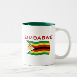 Zimbabwe National Flag (1) Two-Tone Coffee Mug