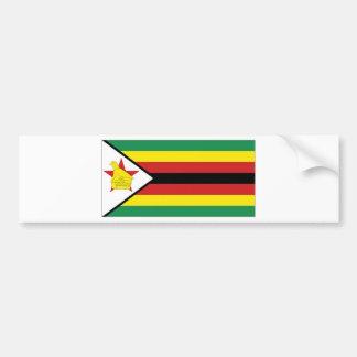 Zimbabwe National Flag Bumper Sticker