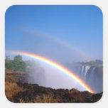 Zimbabwe, parque nacional de las cataratas pegatina cuadrada