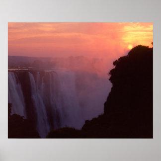 Zimbabwe, parque nacional de las cataratas Victori Póster