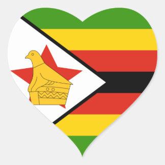Zimbabwe Pegatina En Forma De Corazón
