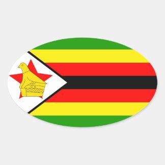 Zimbabwe Pegatina Ovalada