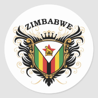Zimbabwe Pegatina Redonda
