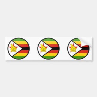 Zimbabwe quality Flag Circle Bumper Sticker