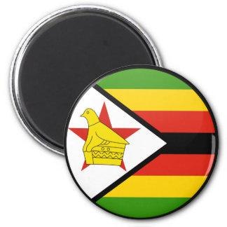 Zimbabwe quality Flag Circle Magnet
