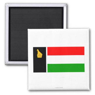 Zimbabwe Rhodesia Flag (1979) Imán Cuadrado