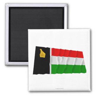 Zimbabwe Rhodesia que agita a Flag (1979) Imán Cuadrado