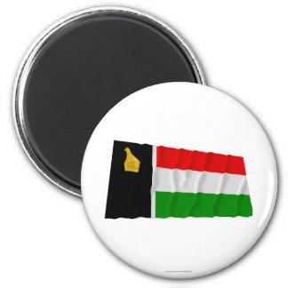 Zimbabwe Rhodesia que agita a Flag (1979) Imán Redondo 5 Cm