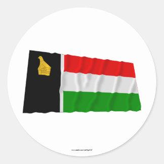 Zimbabwe Rhodesia que agita a Flag (1979) Pegatina Redonda