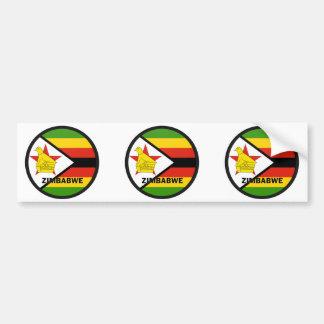 Zimbabwe Roundel quality Flag Bumper Stickers